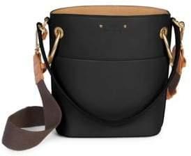 Chloé Small Leather Drawstring Bucket Bag