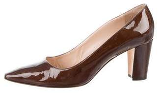 Manolo Blahnik Patent Leather Round-Toe Pumps