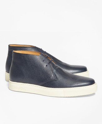 Brooks Brothers 1818 Footwear Textured Leather Chukka Sneakers