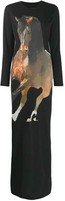 Marques Almeida Marques'Almeida long horse graphic shirt dress