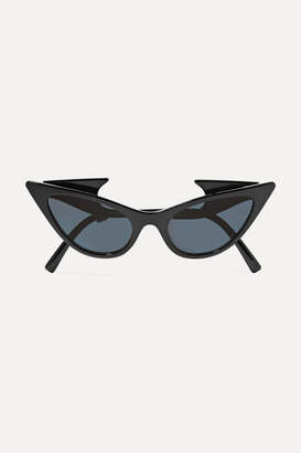 Le Specs Adam Selman The Prowler Cat-eye Acetate Sunglasses - Black
