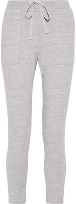 James Perse Cotton-terry Track Pants - Light gray
