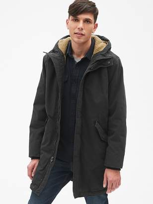 Gap Sherpa-Lined Fishtail Parka