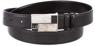 Dunhill Silver-Tone Leather Belt