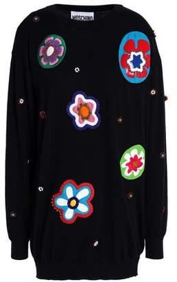 Moschino Embellished Intarsia Cotton Sweater
