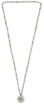 M. Cohen Evil Eye Sterling Silver, Labradorite And Malachite Beaded Necklace
