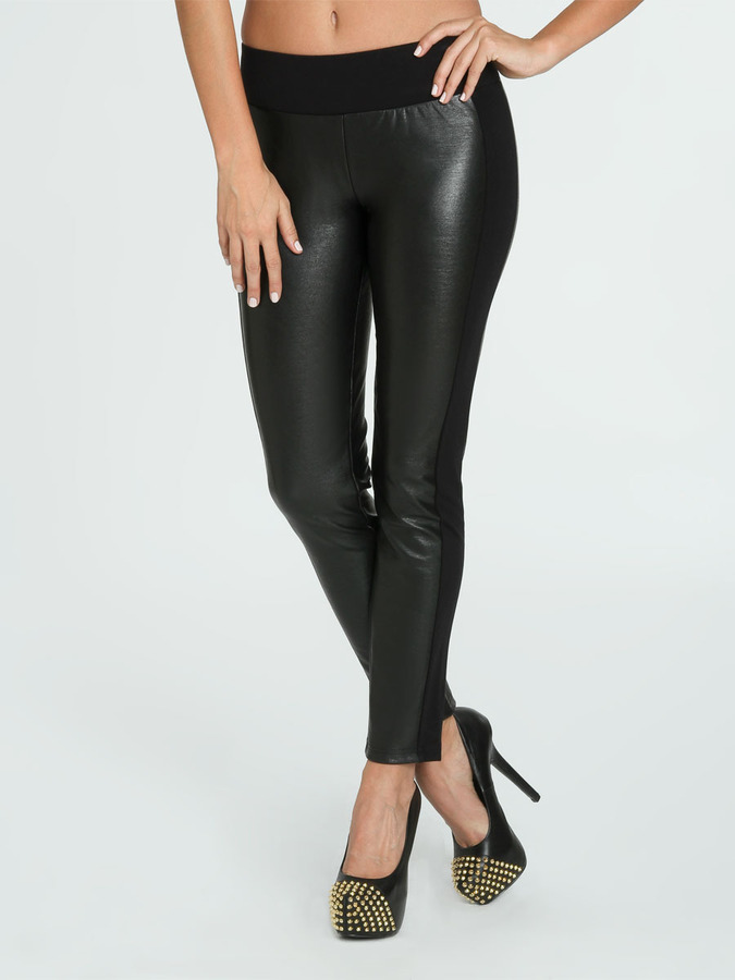 Arden B Faux Leather Ponte Jegging
