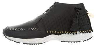 Buscemi Fringe-Trimmed High-Top Sneakers w/ Tags