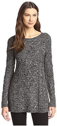 James & Erin Women's Marled Cable Sweater