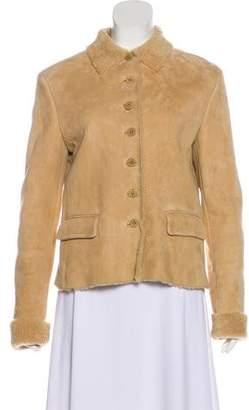 Ralph Lauren Purple Label Shearling-Lined Suede Jacket w/ Tags