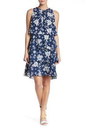 Sandra Darren Floral Tiered Ruffle Dress