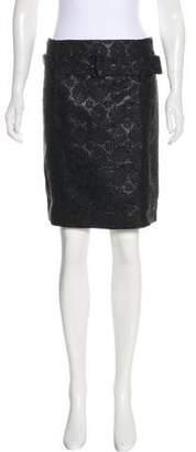 Prada Metallic Pencil Skirt