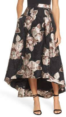 Eliza J Jacquard High/Low Ball Skirt