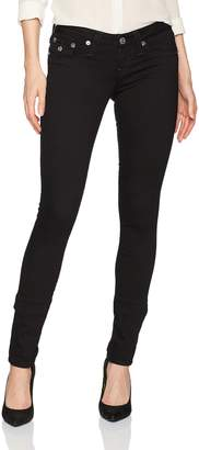 True Religion Women's Skinny Jean with Back Flap Pockets
