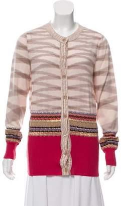 Missoni Wool Blend Cardigan Sweater