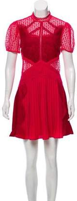 Self-Portrait Panelled Lace Dress w/ Tags