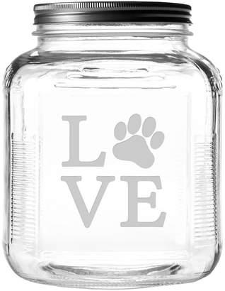 Susquehanna Glass Love Paw Brushed Lid Gallon Jar