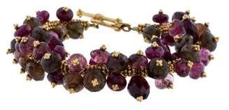 Laura Gibson Tourmaline & Ruby Bead Cluster Bracelet