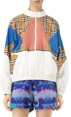 Burberry Colorblock Placed Check Jacket