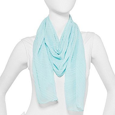 JCPenney Pleated Chiffon Scarf