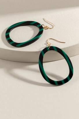 francesca's Kinsley Resin Earrings - Green