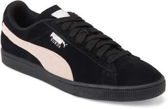 Puma Black & Pearl Suede Classic Low-Top Sneakers