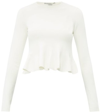 Stella McCartney Peplum Hem Stretch Jersey Top - Womens - Ivory