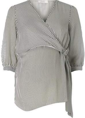 Dorothy Perkins Womens **Maternity Monochrome Striped Tie Front Top