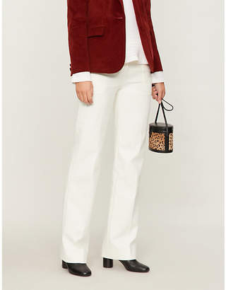 BA&SH Wally wide-leg cotton-blend trousers
