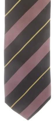 Prada Striped Silk Tie black Striped Silk Tie