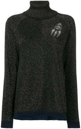 Karl Lagerfeld space glitter sweater