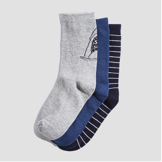 Kid Boys' 3 Pack Print Socks