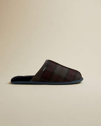 Ted Baker AYNTINT Checked suede slippers