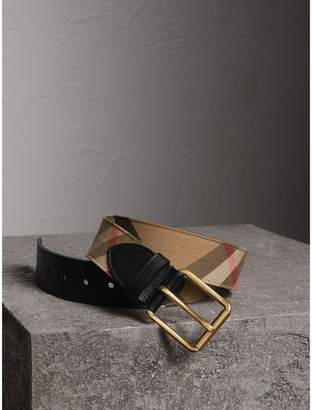 Burberry House Check and Leather Belt