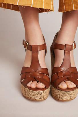 Anthropologie T-Strap Platform Sandals