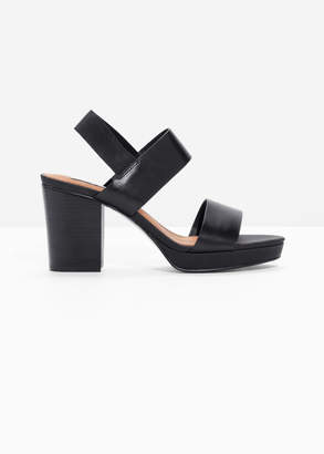 And other stories Heeled Leather Sandals