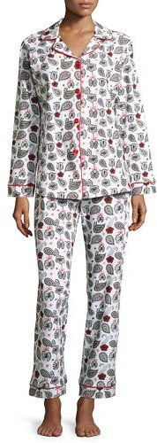 BedHeadBedhead Printed Long-Sleeve Classic Pajama Set, Holiday