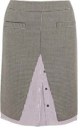 Wanda Nylon ハウンドトゥース ウール混 ツイード&ストライプ コットンポプリン ミディスカート