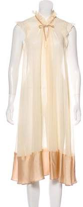 Derek Lam Silk-Blend Crepe Dress
