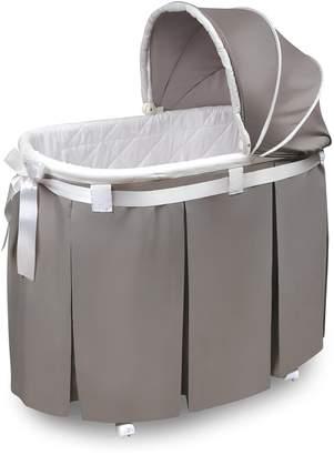 Badger Basket Wishes Oval Bassinet Full Length Skirt