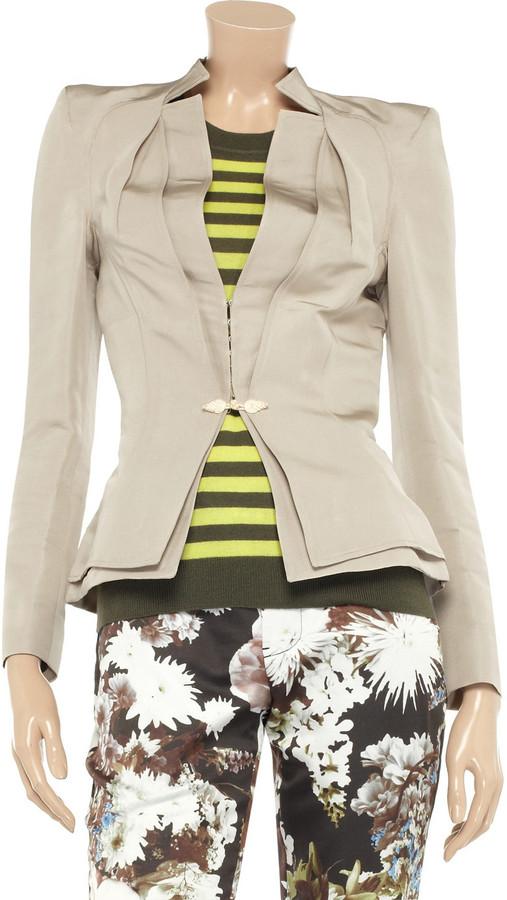 Zac Posen Silk-twill jacket