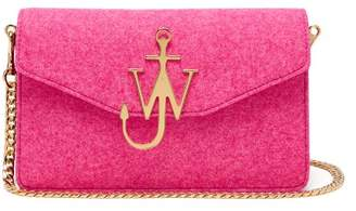 J.W.Anderson Felt And Leather Logo Shoulder Bag - Womens - Pink