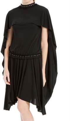 Max Studio Matte Jersey Caped Dress