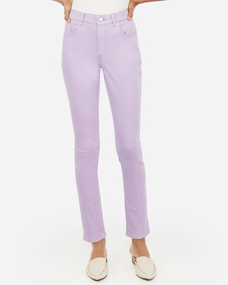 Express High Waisted Lilac Jean Leggings