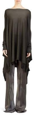Rick Owens Merino Wool Poncho Top