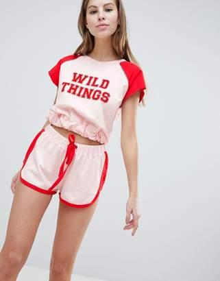 Asos DESIGN Lounge Wild Things Short