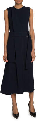 Victoria Beckham Irregular Crepe Cocktail Dress