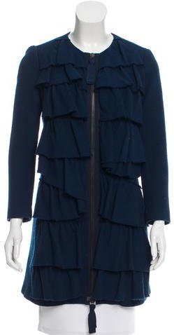 3.1 Phillip Lim 3.1 Phillip Lim Ruffle Wool Coat