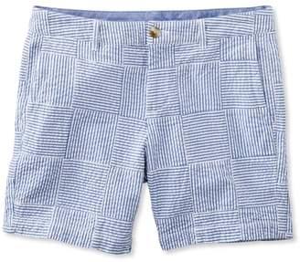 "L.L. Bean L.L.Bean Washed Chino Shorts, Seersucker Patchwork 6"""