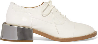 MM6 Maison Margiela - Leather Brogues - White $560 thestylecure.com